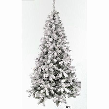 Kunstkerstboom besneeuwd/whiteflock 210 cm