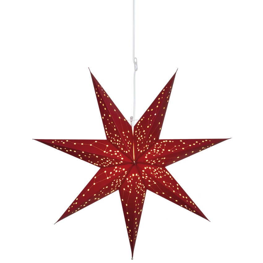 Kerstster Galaxy Rood
