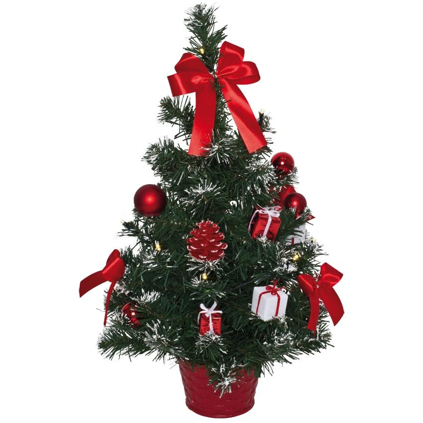 kunstkerstboom  rode decoratie