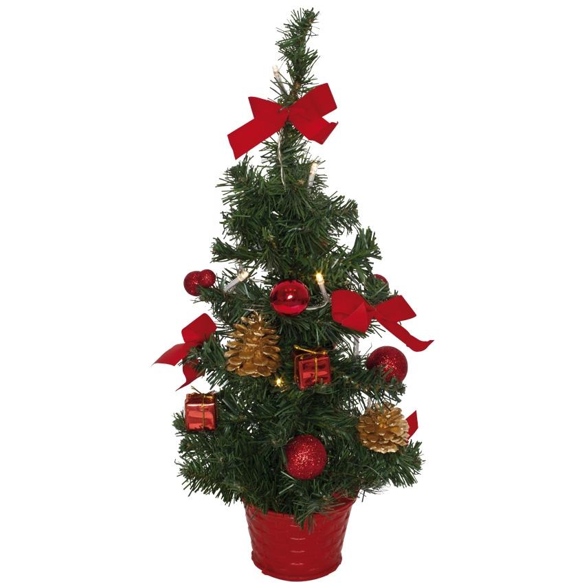 kunstkerstboom Praag, rood