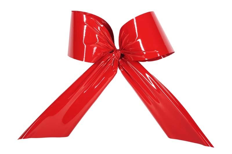 Kunststof strik rood 40