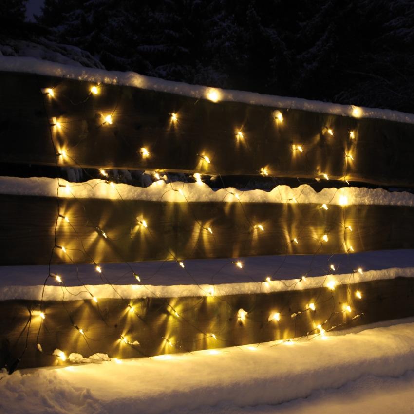Lichtnet 2x1 meter, warm witte leds