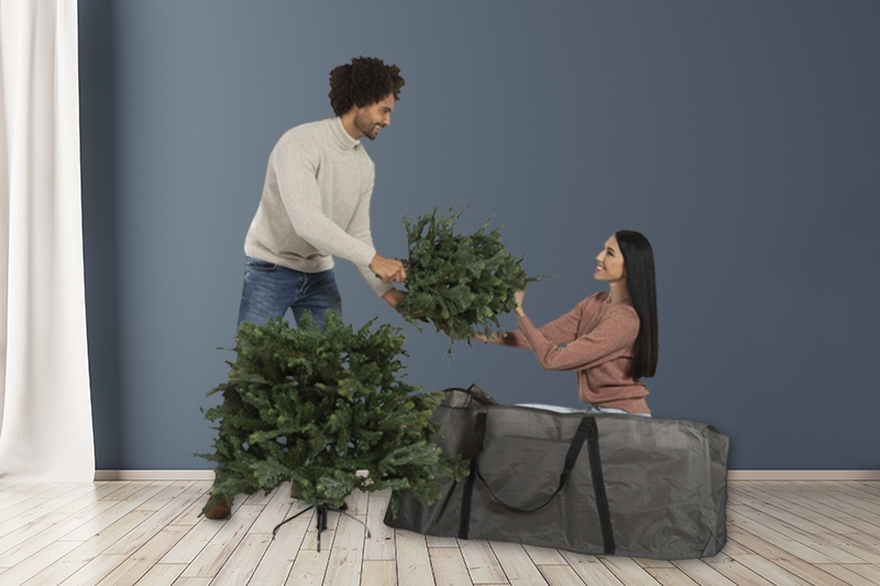 Opbergtas kunstkerstboom 125x40x50 cm