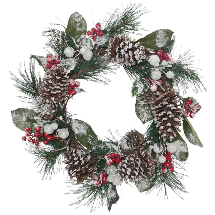Winterse kerstkrans