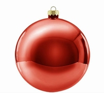Kerstbal rond 30 cm Rood