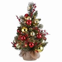 kunstkerstboom dakota 122 met decoratie en leds