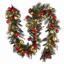 Dakota garland met leds en kerstdecoratie