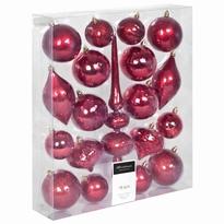 Kerstboom decoratie set 19 delig rood