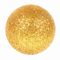 Kerstballen goud glitter