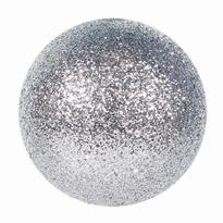 Kerstbalenl zilver glitter