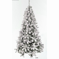 Kunstkerstboom besneeuwd/whiteflock 150 cm