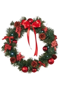 Kerstkrans Gedecoreerd